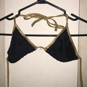 American Apparel Bathing Suit Top - Gold Trim